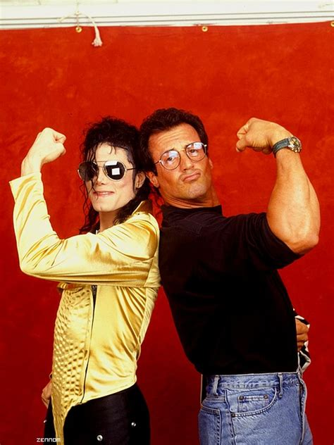 Michael Jackson and Sylvester Stallone   We Heart It